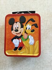 "Mickey & Pals Mini Tin Lunch Box Mickey And Pluto 5 1/2"" X 4 3/4"""