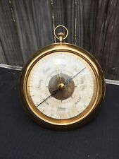 """Vintage Metal Brass Wittnauer Barometer, 6"""" Wide, Stand on Back, or Hang it"""