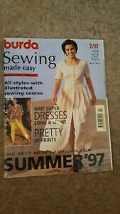 BURDA Sewing Made Easy Magazines Used condition - Pattern Sheets Intact.