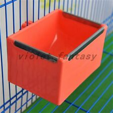 New Pet Dog Cat Bird Cage Bowl Coop Cup Food Water Cuboid-shaped Metal Edge