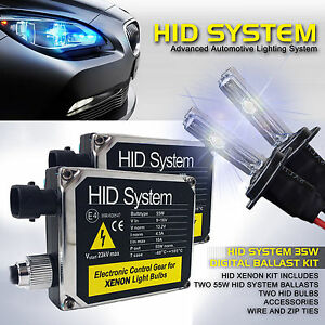 55W CANBUS XENON LIGHTS HID KIT H7 super WHITE ERROR FREE Headlight lamp