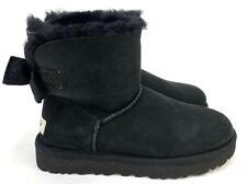 Ugg Mini Bailey Bow II Velvet Ribbon Bow Black Women's Boots Size 7