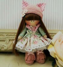 Rag doll handmade in UK Mini pocket doll Tilda doll Ooak doll TILLY 5 inch tall