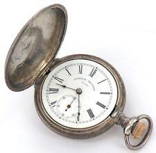 * STERLING SILVER CASE / 1899 WALTHAM 6S 15J POCKET WATCH.