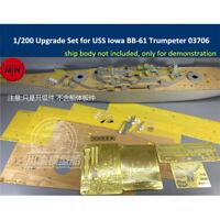 1/200 Scale Upgrade Set for USS Iowa BB-61 Battleship Trumpeter 03706 Model Kit