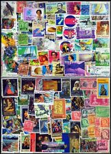 New zealand-200 All Different Used Postage Stamps-Large & Small-Theamatic Stamps