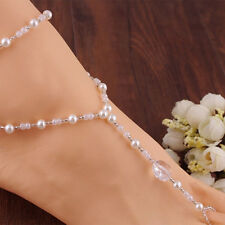 Accessories Barefoot Sandals Jewelry Pearl Foot Anklet Charming Bridal