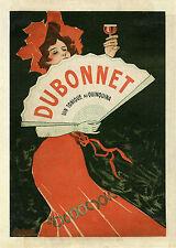 """""""DUBONNET"""" Affiche d'intérieur originale entoilée (Litho Giuseppe BOANO 1912)"""