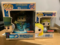 Funko POP! Disneyland 65th Lot! Mad Hatter 87 & Alice 973.......................