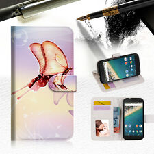 Dream Butterfly Phone Wallet Case Cover For Alcatel Pop Star -- A010