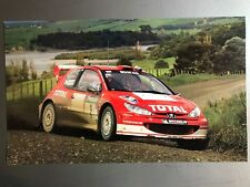 2004 Marcus Gronholm Peugeot Rally Race Car Print, Picture, Poster RARE! Awesome