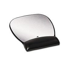 3M Precise Leatherette Mouse Pad w/Wrist Rest Nonskid Base 8-3/4 x 9-1/4 Black