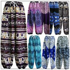 Harem Pants Baggy Bohemian Boho Hippie Aladdin Yoga Genie Trousers Unisex Ladies