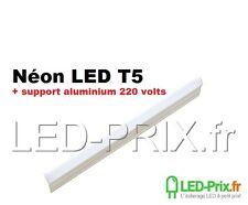 Tube led 57cm T5 8 watts blanc froid avec réglette aluminium