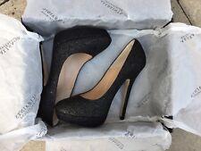 All Saints Dixy Stiletto caviar heel shoes BNIB new UK6, EU39 black RRP £175