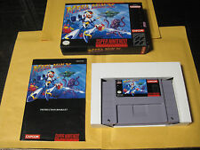 Mega Man X (Super Nintendo SNES, 1993) First Print Made in Japan Complete in Box