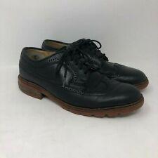 Frye Wingtip Shoes 7D Mens Black Leather Oxford Lace Up