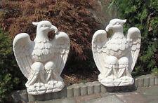 Gartenfiguren Set, Adlerfiguren, links & rechts, 50 cm Steinguss, Gartendeko