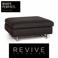 Who's Perfect Stoff Hocker Anthrazit Grau Ottoman #14517