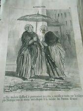 HD 3546 Daumier 1851 - Receipt the new ce matin telegraph electric