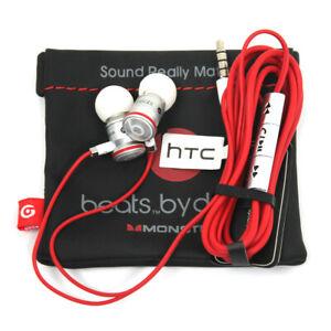 Monster Beats by Dr. Dre HTC Headset Kopfhörer In-Ears 3,5 mm Klinke weiß