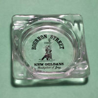 Bourbon Street New Orleans Birthplace of Jazz Ashtray Glass