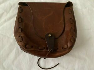 Hand-Made Brown Leather Belt Bag Attachment BOHO Festival Fanny Pack Waist Pack