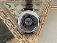 Beautiful and Unusual Silver Un-Signed Moser 1907 Half Hunter WW1 Trench Watch