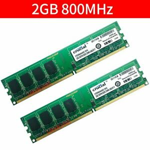 Für Crucial 4GB 2x 2GB 1GB PC2-6400U DDR2 800MHz Computer Memory Desktop RAM DE