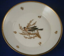 Antique 19thC French Paris Porcelain Bird Scene Saucer Porcelaine Vieux de Tasse