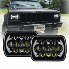 105W 5x7 7x6 Halo LED Headlights for Jeep Wrangler YJ Cherokee XJ Toyota pickup