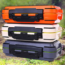 Waterproof Double-deck Fishing Tackle Carry Case Lure Bait Accessories Tool Box