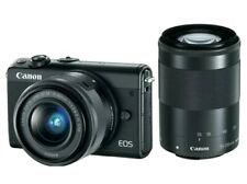 Canon EOS M100 Mirrorless Digital Camera Black with 15-45mm Lens & 55-200mm Lens