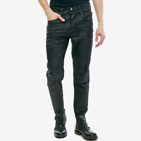 Diesel Herren Cropped Slim Fit Stretch Jeans Hose - beschichtet - Blanck 0671E