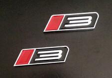 2pcs 2005-14 Alloy Black & RED Stage 3 Emblem Fender Badge Sticker