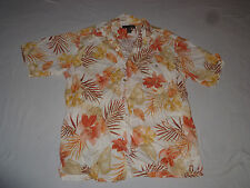 VINTAGE HONOLULU TORI RICHARD HAWAIIAN BUTTON UP SHIRT FROND LEAVES MENS SIZE L