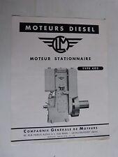 prospectus moteur fixe diesel stationnaire CLM type 602