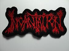 INCANTATION  SHAPED RED LOGO EMBROIDERED  PATCH