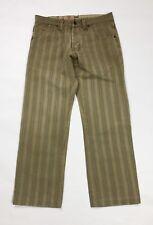 jeans uomo usato gamba dritta a righe denim W30 tg 44 straight boyfriend T3673