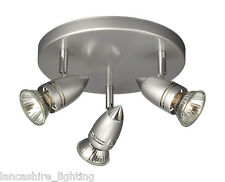 Philips 54713/87/15 3 Light Spot Light on round plate in Grey with FREE Bulbs!