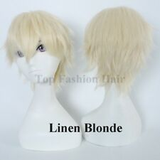Male Female Hair Wig Short Straight Full Wig Cosplay Party Anime Wig Costume tth