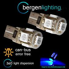2 X W5W T10 501 CANBUS SENZA ERRORI BLU 5 LED LUCI DI POSIZIONE LAMPADINE