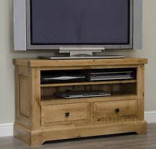 Regent solid oak furniture living room television cabinet stand unit
