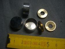 2 cache vis plat 16 mm laiton chromé (réf LC16P)