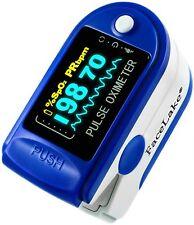 Pulse Oximeter Fingertip CMS50D / FL350 Blood Oxygen SpO2 Monitor FDA - Blue