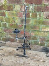 More details for antique wrought iron arts & crafts candlestick c1900