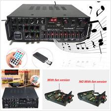 Bluetooth Channel 1200W Audio Power HiFi Amplifier 326BT Speaker+Remote Control