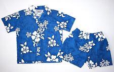 EEEUC Pacific Legend Boys Hawaiian Summer 2pc Set Blue Sz. 6T
