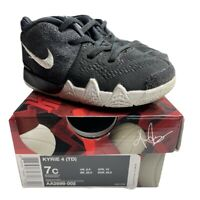 2017 NIKE KYRIE 4 TD Black White Basketball Shoes Toddler Size 7C (AA2899-002)