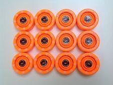 *Sale* 12 New Flo Orange Ids Pro Shot Roller Inline Hockey Pucks Fast Shipping!